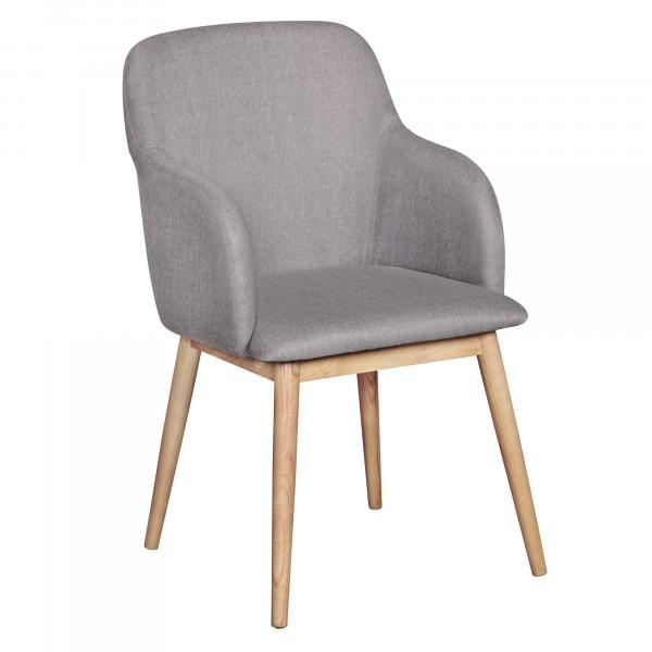 2er Set Stuhl LIMA Stoff mit Armlehne